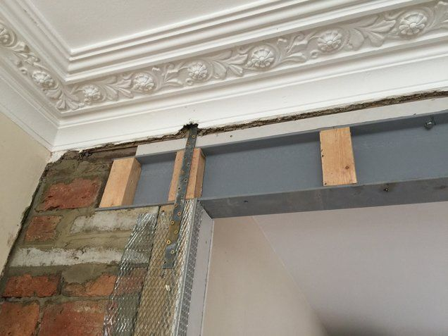Steel beam installation lewisham steel beam installation for Removing part of a load bearing wall