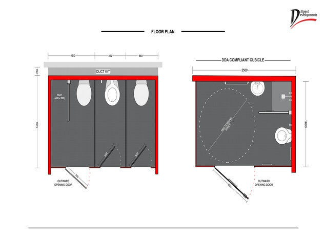 Washroom cubicle design dbs checked contractors for Cubicle floor plan