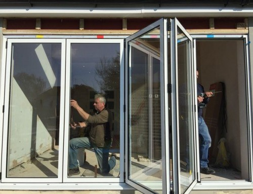 Bifold Door Installation : Internal load bearing wall removal with rsj steel beam