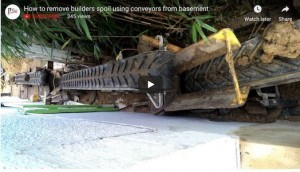 How to remove builders spoil from a residential house