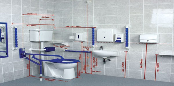 Mobility bathroom design