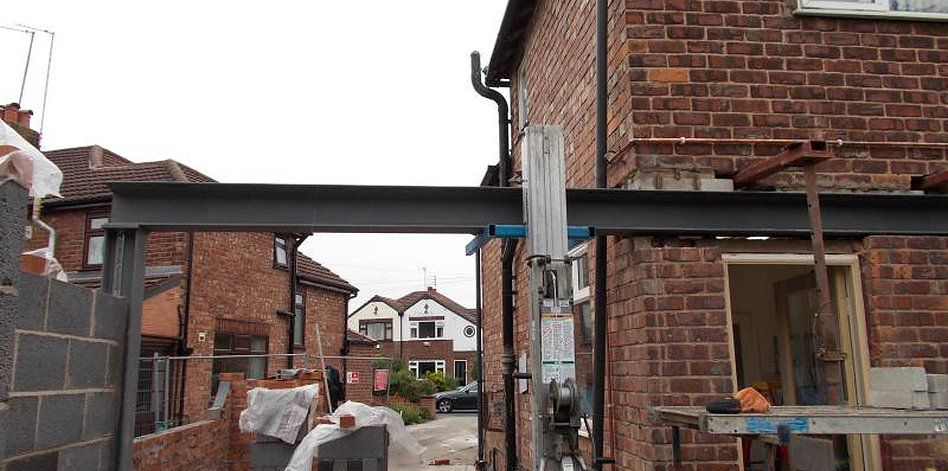 Rsj steel beam installation box frames goal posts for Structural beams for houses
