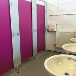 washroom cubicle and toilets – Case Study – North London Academy
