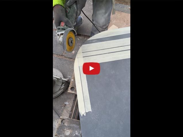 How-To-cut-a-rounded-edge-on-composite-kitchen-worktop