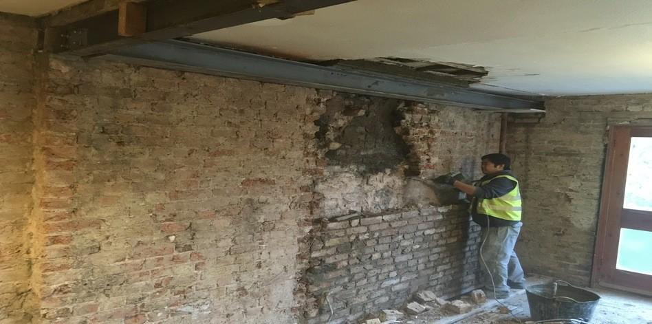 attic wallpaper ideas - Chimney breast removal Lewisham