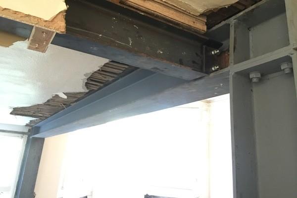 Load Bearing Chimney : Steel beam installation sydenham
