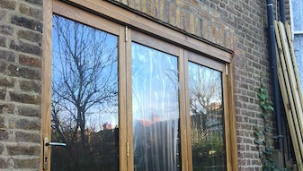 Supply and installation of external bi fold doors.- South London SE23