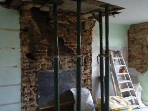 Chimney stack and breast removal